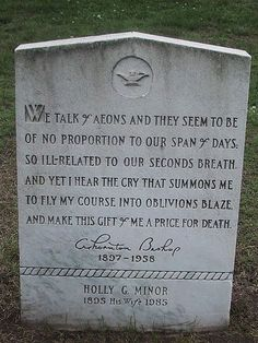 A poet's grave in a New England cemetery
