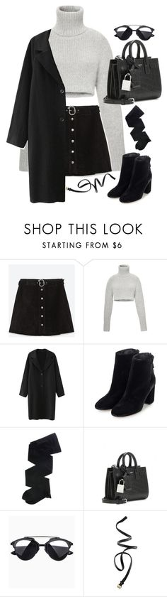 """Untitled#3866"" by fashionnfacts ❤ liked on Polyvore featuring Zara, Dion Lee, Topshop, Gerbe, Yves Saint Laurent and H&M"