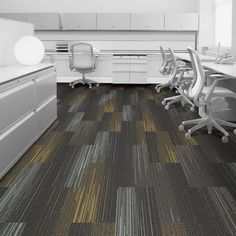 Interface carpet tile: SL930 Color: Grey Fade 7833-006-000 Installation method: Ashlar                Room scene: Open Office