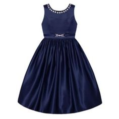 Girls+7-16+&+Plus+Size+American+Princess+Rhinestone+Neckline+Dress