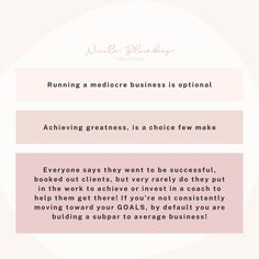 Make the decision that settling isn't an OPTION! The secret weapon most Entrepreneurs + CEO's have is a Mindset + Business Coach. Here's 3 things I want you to do NOW!! Un-normalize LACK. Lack of Clients, Lack of Sales, Lack of 2x profit, Lack of # in your business no matter how hard you try! Lack of Sales Calls... Set the expectation to SUCCESS. Break up with failure! 🙌🏼 🙌🏼 🙌🏼