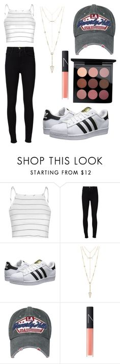 """""""Gorgggg"""" by grandesdw ❤ liked on Polyvore featuring Glamorous, Frame, adidas Originals, House of Harlow 1960, NARS Cosmetics and MAC Cosmetics"""
