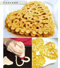 Pancake art!  It looks so easy. :D
