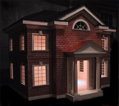 Expensive colonial style #doghouse with red brick
