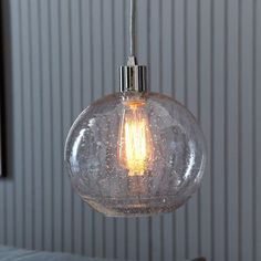 Seeded Glass Shade | west elm 9 w x 9 h 53.27 2 x over basement island
