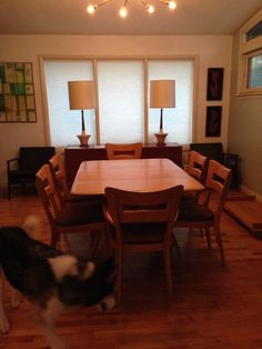 Heywood Wakefield Wishbone Dining Table With Chairs Mid Century