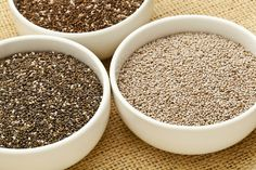 Chia seeds - a great plan-based source of omega-3 fatty acids, in addition to a host of other nutrients, and an abundance of calcium, protein, and fiber.