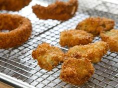 "Fried Pickles and Onion Rings (Picture This!) - Trisha Yearwood, ""Trisha's Southern Kitchen"" on the Food Network."