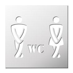 Charmant Pochoir WC