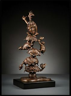 "Turtle Tower Bronze Maquette - 17.75"" x 8"" x 12"" - Bronze - 2008 - SOLD - visit www.sarahbaingallery.com for more information"