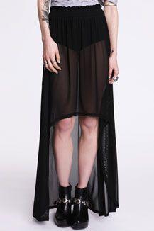Evil Twin Black Good Omen Tail Skirt