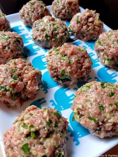 Lebanese Meatballs ~ you can& help but fall in love with these tender beef and lamb meatballs made with tons of fresh herbs, spices, and tangy goat cheese! Haitian Food Recipes, Lebanese Recipes, Meat Recipes, Cooking Recipes, Healthy Recipes, Lebanese Cuisine, Cooking Ham, How To Cook Meatballs, Lamb Meatballs