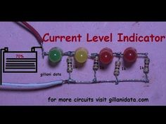 Battery Current Level Indicator - YouTube