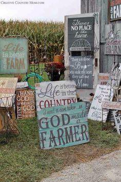 Love the God made a farmer