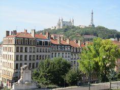 Lyon, vue depuis les pentes de la croix rousse