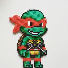 TMNT Raphael perler beads by imayfair