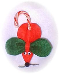Red Candy Cane Mouse ~ I have made these ever since my children were little and now enjoy making them with my granddaughters.