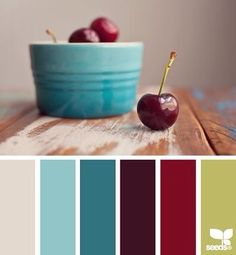 Color inspo from @designseeds. Life is a bowl of cherries...even when you planned to do a lot of work today but your internet is down from a bad storm. #colorpalette #colorinspiration #designinspiration #designinspo #designseeds #cherries