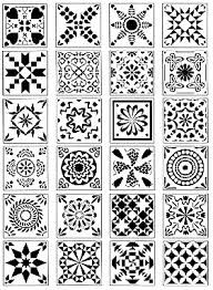 rubber stamp patterns