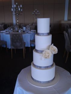 Square Wedding Cakes With Bling   wedding cake softly pink wedding cake square bling wedding cake