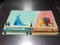 Frozen & Power rangers picture cake