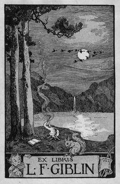 Ex Libris L.F. Giblin by Albertine Randall Wheelan, 1923. Record Number: BP-0461 L.A. public library