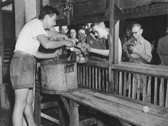 Liberated Santo Tomas internees being fed the first decent meal since the Japanese imprisoned them three years before. Fight For Us, World War Ii, Ww2, Prison, Manila Philippines, Japanese, Camps, History, Couple Photos