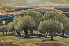 Konstantinos Maleas olive trees in Mytilene Painter Artist, Artist Art, Greece Painting, 10 Picture, Greek Art, Color Of Life, Conceptual Art, Art For Sale, Landscape Paintings