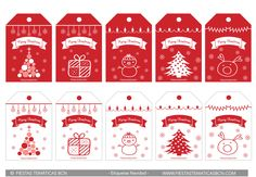 Etiquetas regalo navidad imprimir gratis, printable christmas free