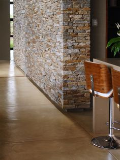 Cemcrete Joburg Project of the Year 2015 - Cemcrete's Colour Hardener floor finish in the colour Cobble Milk provides the home with a unifying element throughout, contributing to the modern bushveld look South African Homes, Modern Lodge, Floor Finishes, Flooring, Cement Floors, House Plans, Home Improvement, House Design, Architects