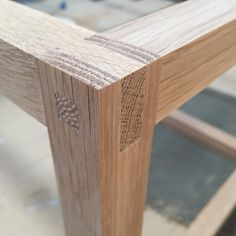 Exposed joinery for custom coffee table.   Relm.com.au