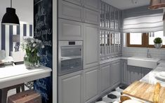Kuchnia urządzone na szaro z IKEA - Lovingit.pl Malaga, Sweet Home, Kitchen Cabinets, House, Home Decor, David, Scandinavian Kitchen, Scandinavian, Design Ideas