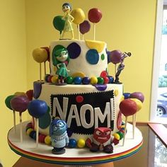 inside out themed birthday cake - Google Search