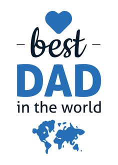 Printable Father's Day Cards | Best Dad in the World