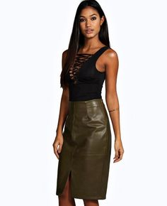 http://www.quickapparels.com/split-front-seamed-leather-look-mini-skirt.html