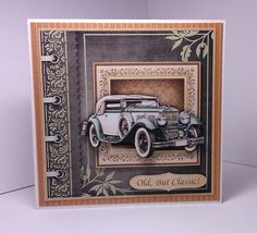 CLASSIC VINTAGE CAR Topper Decoupage on Craftsuprint designed by Janet Briggs - made by Lynda Tully