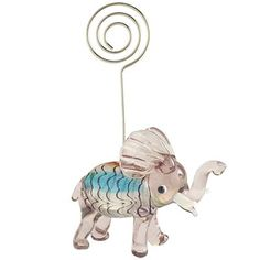 Pink Elephant Photo holder - Christmas Gift not given - $5.00
