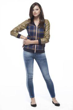 Jaqueta - Alfaiataria Check Norfolk e Malha Royal Leather / Calça - Índigo Velvet Terni Blue 8,5 oz #ALFAIATARIAS #COUROS #xadrezes #JEANSWEAR #indigos #aveludados #FocusonJeans® #FocusTextil