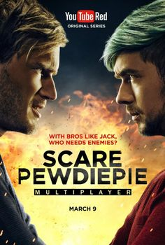 smilingdays2015: Oh my goshhhh!!!! (SCREAMS!!!!) Scare Pewdiepie Featuring Jacksepticeye!! I can't wait for this see this battle with Pewdiepie and Jacksepticeye!!! I am ready for this team Jacksepticeye!!! Who's can support Pewdiepie or Jacksepticeye? Find out!!!! Please Check it out On March 9 2017!!! therealjacksepticeye: I see people posting the poster everywhere and still don't know where they got it lol Anyway HELL YEAH!!! Finally people will be able to see it soon