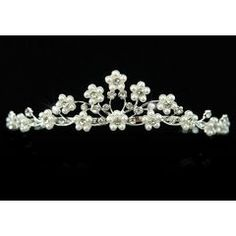 Bridal Clear Crystal Faux Pearl Tiara for R210.00