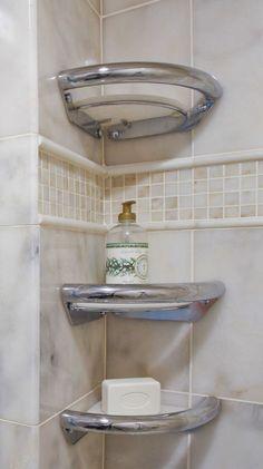 Shower Corner Shelf for Shower Units with Amazing Design Inspiration - Hupehome Bathroom Corner Shelf, Ada Bathroom, Handicap Bathroom, Bathroom Renos, Bathroom Interior, Small Bathroom, Bathroom Ideas, Disabled Bathroom, Grab Bars In Bathroom