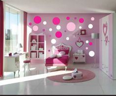 teen room, Pink Bedroom Design Ideas With Pink White Wardrobes Deign With White Ceramic Tile Floor Design With Small Round Rug With Single Bed And Bedroom Furniture Ideas With Pink Curtain For Bay Window Ideas: Astounding Bedroom Ideas for Small Room Pink Bedroom Design, Pink Bedroom For Girls, Pink Bedrooms, Girl Bedroom Designs, Pink Room, Teenage Girl Bedrooms, Little Girl Rooms, Bedroom Colors, Teenage Room