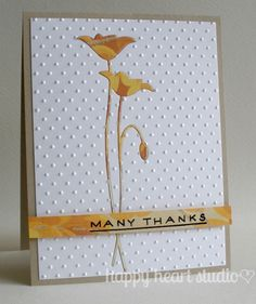 I LOVE the idea of cutting out the flower with die then embossing and adding a die cut flower from designer paper, clever