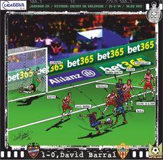 Levante UD, 1 - UD Almería, 0 - David Barral, 1-0, min.62'
