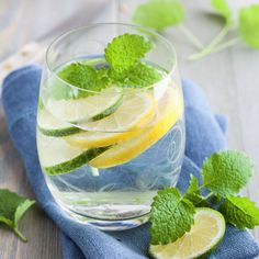 Double the Detox With These Water Additions - lemon, mint, cucumber, or ginger. A little goes a long way, and remember to let them soak first.