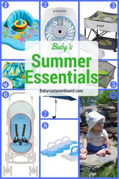 Sharing our  favorite products to help keep baby happy and cool in the hot summer sun.
