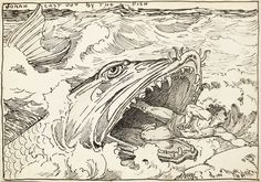 Louis Rhead, from Jonah and the Whale.. : Two Victorian Book Illustrators You Should Know About