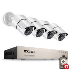 ZOSI Full True Video Security DVR HD Outdoor Weatherproof Surveillance Camera System - Fantastic Security Device for Your Home or Business Video Security System, Wireless Home Security Systems, Security Camera System, Security Alarm, House Security, Security Products, Security Tips, Outdoor Home Security Cameras, Wireless Video Camera