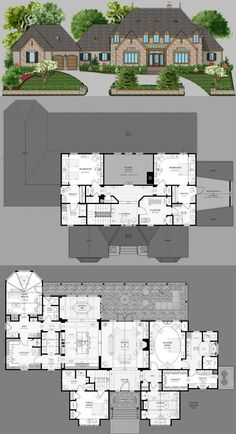 Final Floor plan, with Summerfield's help! Bungalow Floor Plans, Modern Floor Plans, House Blueprints, Condominium, Planer, Architecture Design, House Plans, Villa, Houses