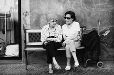 Italian lady's in Orvieto Italy ~ I love their sunglasses.. what a hoot.